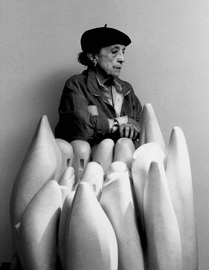 Mandatory Credit: Photo by Sipa/REX/Shutterstock (1196478b) Louise Bourgeois with 'Eye to Eye' (1970) Louise Bourgeois