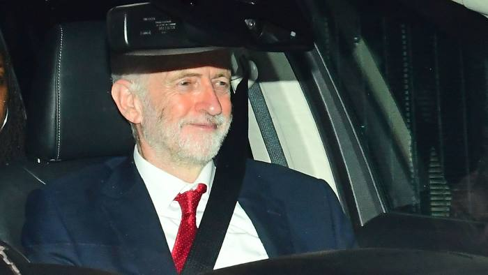 Labour leader Jeremy Corbyn leaving the Houses of Parliament in Westminster, London. PRESS ASSOCIATION Photo. Picture date: Wednesday February 27, 2019. See PA story POLITICS Brexit. Photo credit should read: Victoria Jones/PA Wire