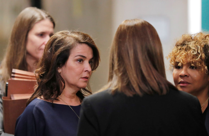 Actor Annabella Sciorra arrives to testify as a witness in the case of film producer Harvey Weinstein at New York Criminal Court during his sexual assault trial in the Manhattan borough of New York City, New York, U.S., January 23, 2020. REUTERS/Lucas Jackson - RC2QLE9CPWMR