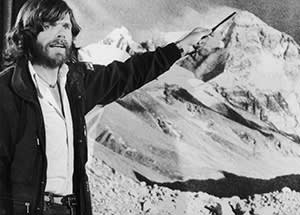 The climber in 1980 after his pioneering ascent of Mt. Everest