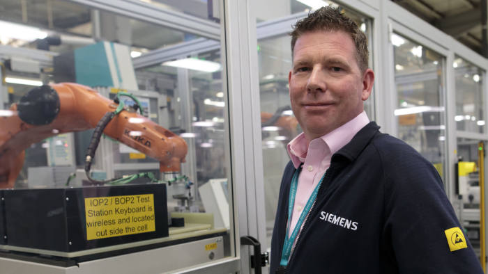Carl German, strategic lead on digital manufacturing at Siemens Motion Control Congleton Picture shows Siemens Digital Industries factory in Congleton, Cheshire, April 17, 2019. (Photo/Jon Super 07974 356-333)