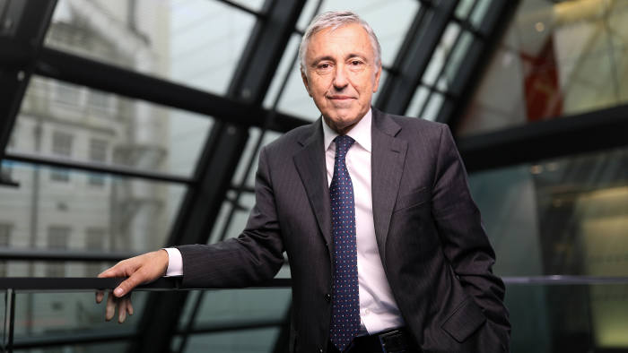 Giovanni Castellucci, chief executive officer of Atlantia SpA, poses for a photograph following a Bloomberg Television interview in London, U.K., on Wednesday, Oct. 19, 2016. Atlantia SpA, the infrastructure company controlled by the Benetton family, plans to boost its earnings abroad by acquiring airport and highway assets outside Italy as part of Castellucci's strategy to reduce the company's dependence on its home market. Photographer: Simon Dawson/Bloomberg