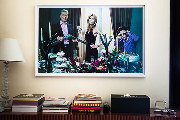 Family portrait of Beretta with his wife Umberta and son Carlo Alberto taken by the fashion photographer Miles Aldridge
