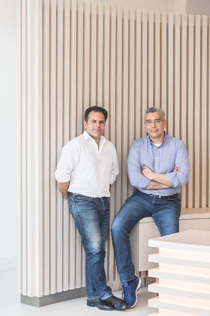 Emilios Markou and Alexis Pantazis of insurer Hellas Direct