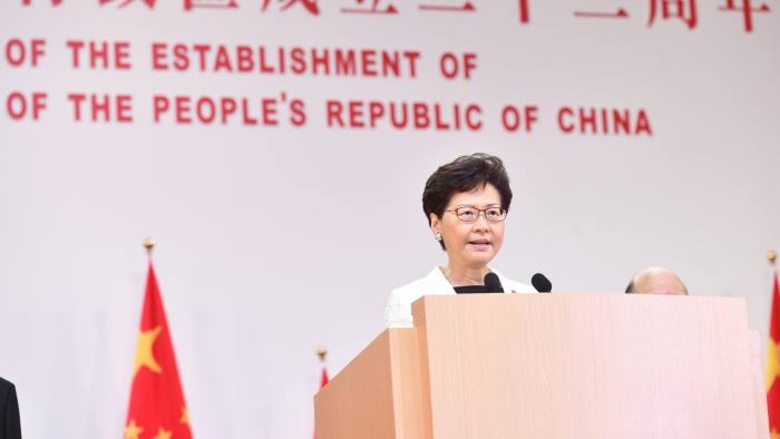 Hong Kong chief Carrie Lam offered to step down over protests | Financial Times