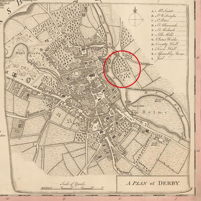 Map of Derby from the National Geographic Society.