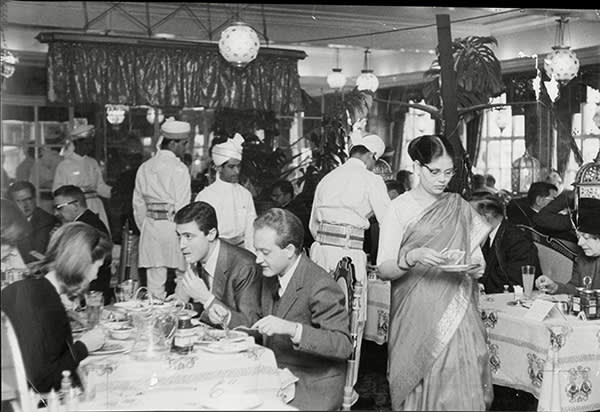 Veeraswamy, the UK's first Indian restaurant, in 1962; it opened at 99 Regent Street, London, where it is still located, in 1926