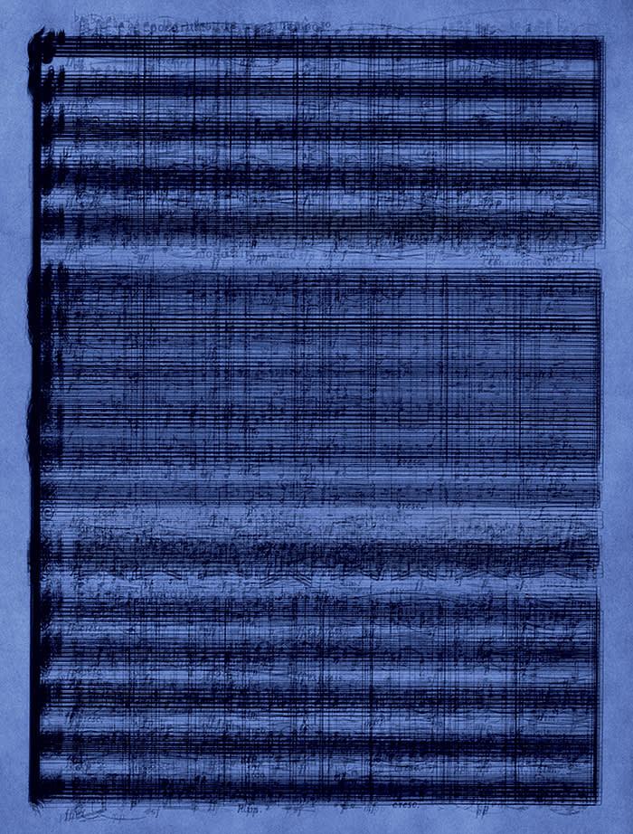 Idris KhanThe Old Tune, 2019Digital C-print167.3 x 127 cm65 7/8 x 50 inEdition of 7 plus 2 artist's proofs © Idris Khan Courtesy the artist and Victoria Miro