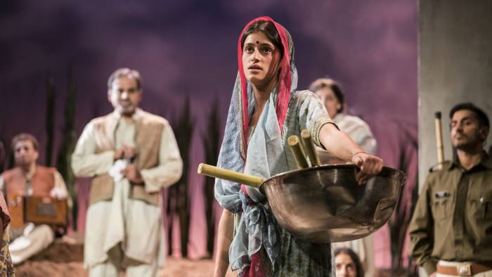 Anya Chalotra and the company in 'The Village' at Theatre Royal Stratford Eas