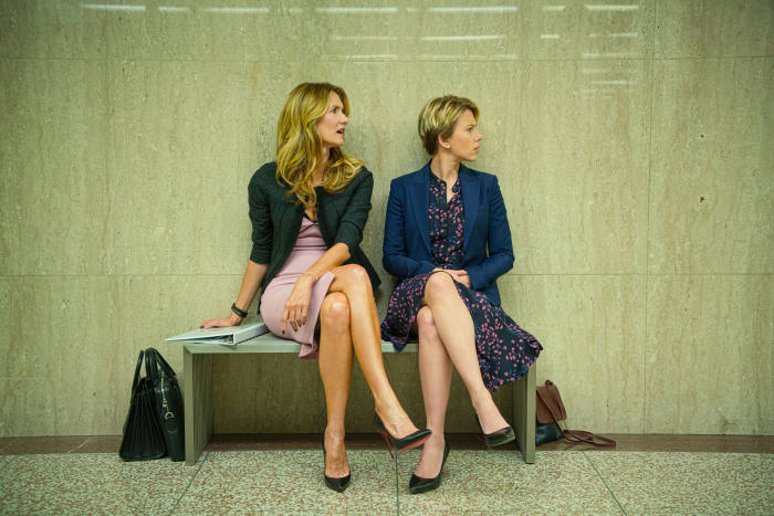 Client and lawyer: Laura Dern and Scarlett Johansson