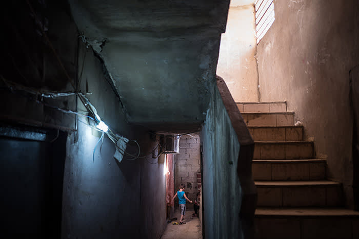 Picture by Charlie Bibby/Financial Times Financial Times seasonal appeal. Habitat for Humanity in Lebanon with Chloe Cornish. Pictures shows: In the Shatila refugee slum. For FT magazine.