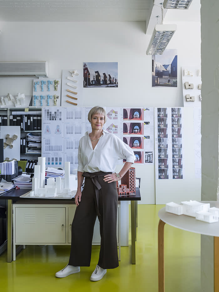 Alison Brooks Photographed at Alison Brooks Architects, Kentish Town Photographer: Wang Wei