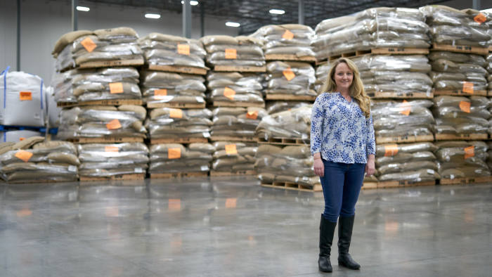 Molly Laverty poses for a portrait at the Farmer Brothers headquarters in Northlake, Texas on February 11, 2020. (Cooper Neill)