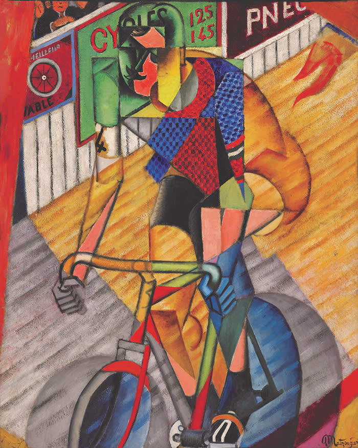 Jean Metzinger, Le Cycliste, 1913, oil on canvas, 100 by 80cm._ 39⅜ by 31½in. (est. £1,500,000 - 2,00,000)