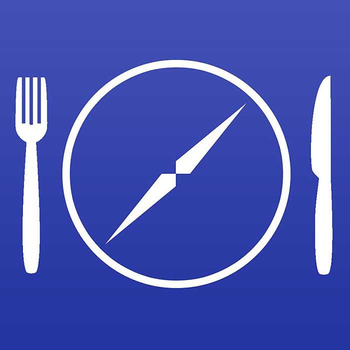 Logo for Kosher GPS App. Handout.