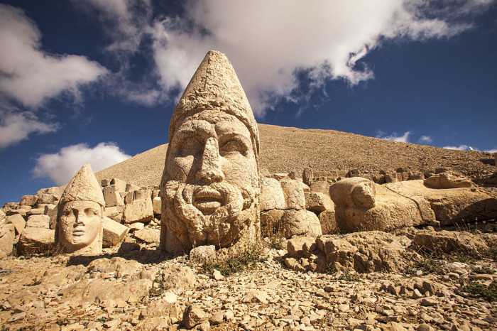 Ruins on Nemrut Mountain.