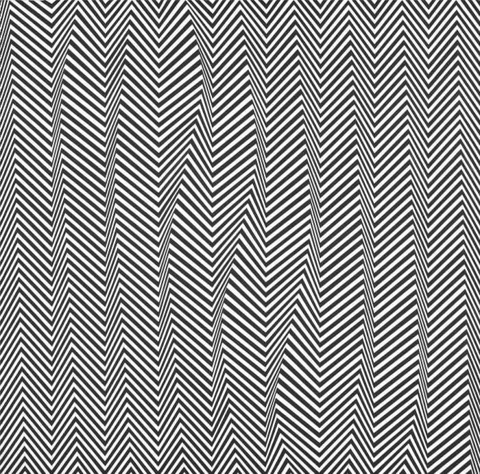 Bridget Riley, 'Descending' (1965)