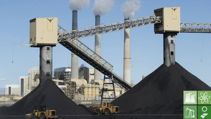 CASTLE DALE, UT - OCTOBER 9: Piles of coal sit in front of Pacificorp's 1440 megawatt coal fired power plant on October 9, 2017 in Castle Dale, Utah. It was announced today that the Trump administration's EPA will repeal then Clean Power Plan,that was put in place by the Obama administration. (Photo by George Frey/Getty Images)