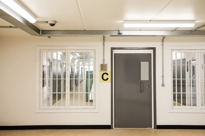 "One of the prison's accommodation or ""house blocks"". According to an architect's report, the ""reverberation time"" for sound in the blocks was 3.5 seconds"