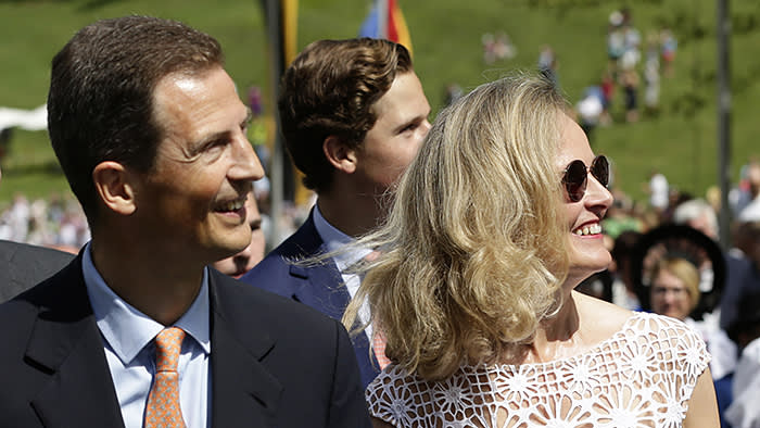 Hereditary Prince Alois, Hereditary Princess Sophie, The national day celebrations with the royal family in Liechtenstein, August 15, 2018. ( DANA-No: 01816405 )