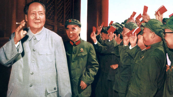 Mandatory Credit: Photo by Sipa/Shutterstock (222630z) Mao Zedong accompanied by Lin Piao acknowledges applause from the soldiers of the Revolutionary Army. MAO TSE TUNG RETROSPECTIVE