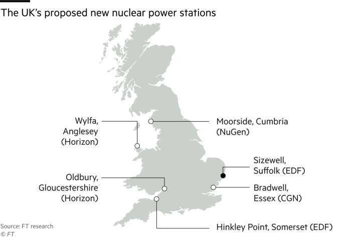 Map Of Uk Power Stations.Private Investors Raise Hopes Of New Model For Uk Nuclear Plants