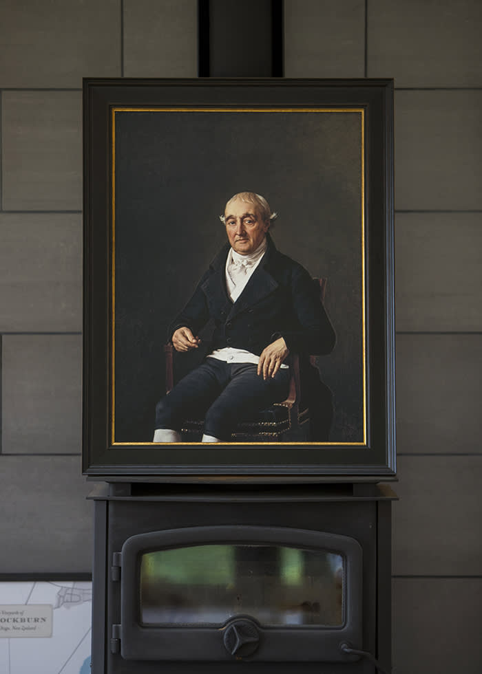 Copy of a portrait by Jacques-Louis David of Cooper Penrose (Sam Neill is a descendant of Cooper Penrose- a colourful Anglo Irish businessman and patron of the arts) (C) Vaughan Brookfield for the FT