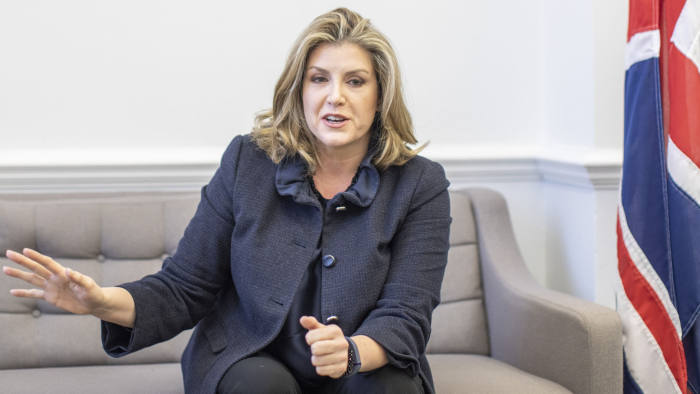 Penny Mordaunt, International Development Secretary, photographed in her office, at Westminster, London. 22nd January 2019