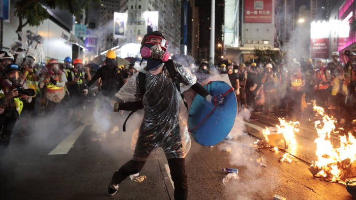 Image result for riot in hong kong