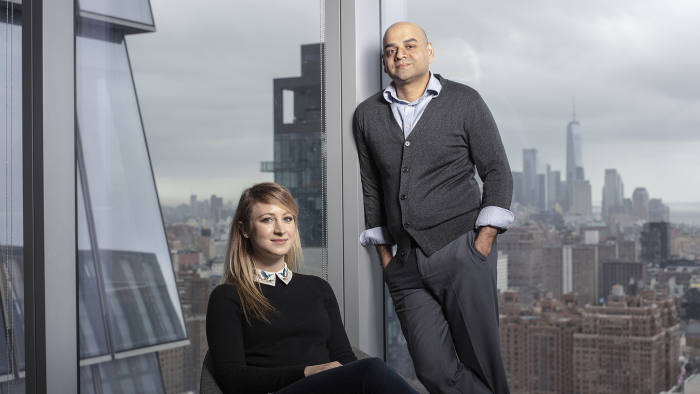 Prem Ramaswami & Veronica Pinchin photographed for the Financial Times at the Sidewalk Labs in New York