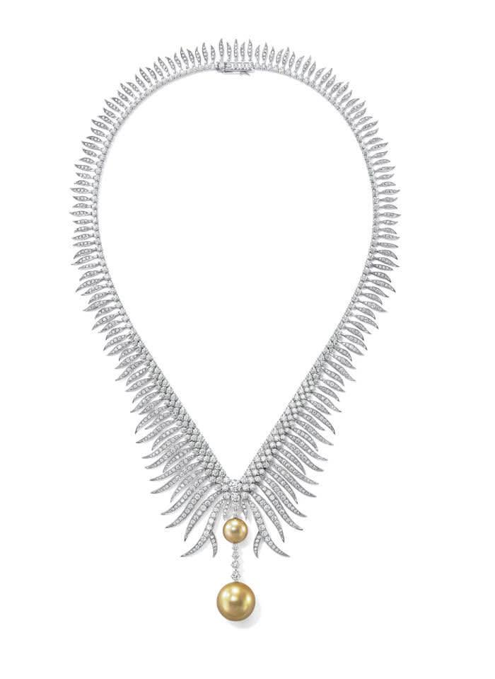 Gurung's Tasaki jewellery: Brilliant Grace necklace, £553,000, tasaki-global.com
