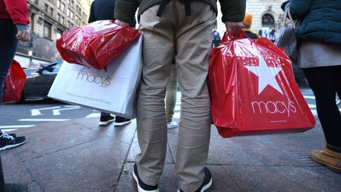 (FILES) In this file photo taken on November 24, 2017 shoppers take advantage of the Black Friday sales the day after Thanksgiving in New York City. - Holiday shopping reports released January 10, 2019 underscored anew the challenges US retailers face in the Amazon era -- even if consumers are willing to open their wallets to spend. The updates were a mixed bag overall, with several retailers reporting small or moderate increases in comparable store sales during the critical November-December period. But a report from Macy's aroused the most angst on Wall Street, after the chain slashed its profit forecast even as it signaled a modest increase in sales. (Photo by TIMOTHY A. CLARY / AFP)TIMOTHY A. CLARY/AFP/Getty Images