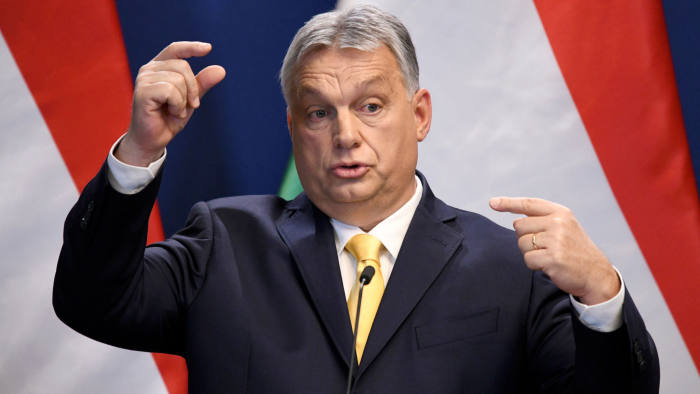 Hungarian Prime Minister Viktor Orban holds an international news conference in Budapest, Hungary, January 9, 2020. REUTERS/Tamas Kaszas