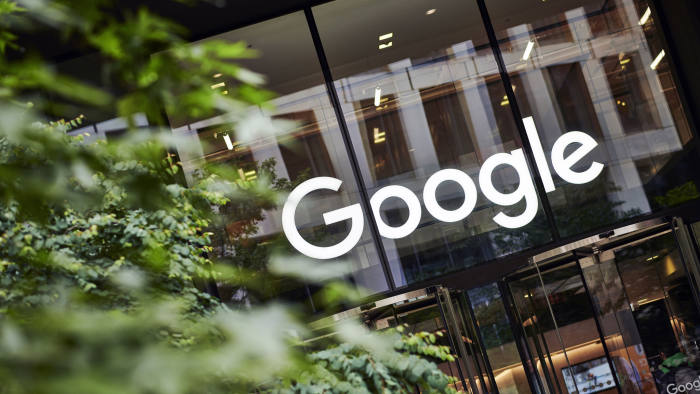 LONDON, UNITED KINGDOM - JUNE 4: Detail of the entrance to the Google UK offices in London, with the Google logo visible above the doorway, taken on June 4, 2019. (Photo by Olly Curtis/Future via Getty Images)