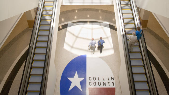 Collin County Courthouse, Texas. (Handout)