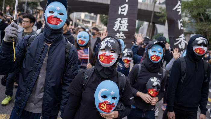 Sunday's strong turnout led Chinese commentators to warn: 'The scene is set for more confrontation'