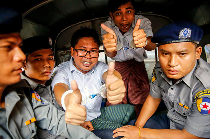 Image result for Myanmar court rejects appeal of jailed Reuters reporters