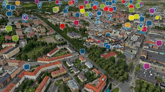 Digital twin technology helps Norrkӧping crowdsource ideas. Press image.