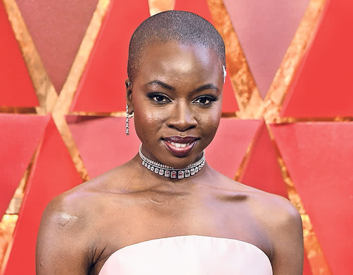US actress Danai Gurira arrives for the 90th Annual Academy Awards on March 4, 2018, in Hollywood, California. / AFP PHOTO / ANGELA WEISS (Photo credit should read ANGELA WEISS/AFP/Getty Images)