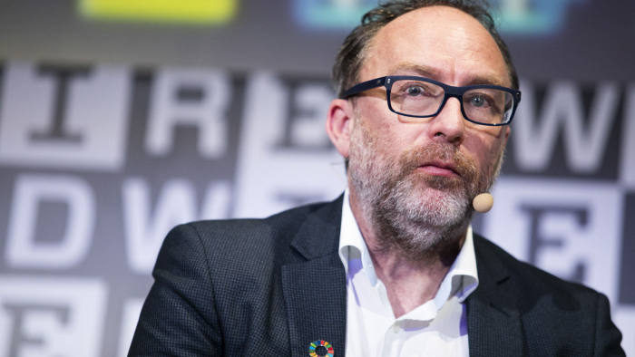 MILAN, ITALY - MAY 25: American Internet entrepreneur and founders of Wikipedia Jimmy Wales attends the Wired Next Fest 2019 at the Giardini Indro Montanelli on May 25, 2019 in Milan, Italy. (Photo by Rosdiana Ciaravolo/Getty Images)