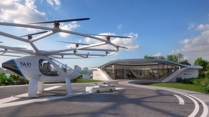 Skyports and Volocopter have teamed up to design and develop the world's first vertiport. This full-scale prototype will be displayed in Singapore in October 2019 with live flights of the Volocopter 2X. This is the first step towards urban air mobility operations in cities around the world and Singapore is committed to being the first market for air taxi services. Skyports, in partnership with Volocopter, are working to make this a reality by early 2022.