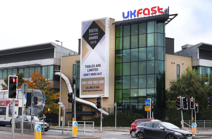 Picture : Lorne Campbell / Guzelian The UKFast campus at Birley Fields, Manchester. PICTURE TAKEN ON WEDNESDAY 23 OCTOBER 2019 .