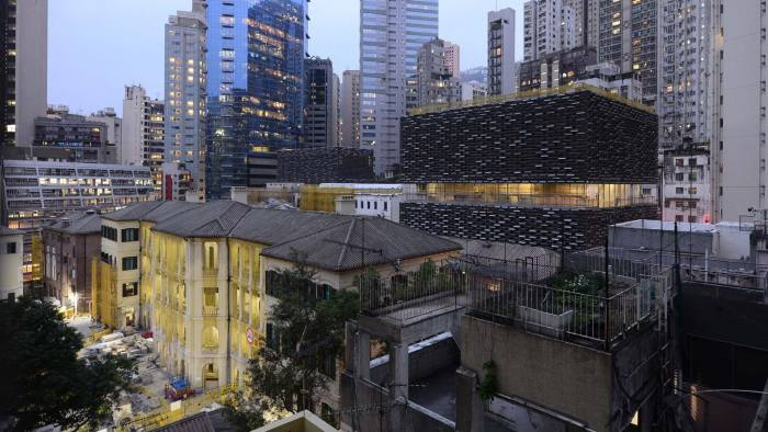 The redeveloped Tai Kwun in Hong Kong, with Herzog & de Meuron's new arts centre seen to the right