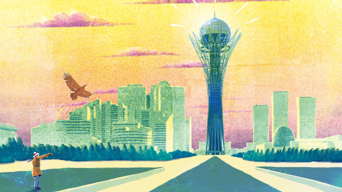 Illustration of Astana by Luke Waller