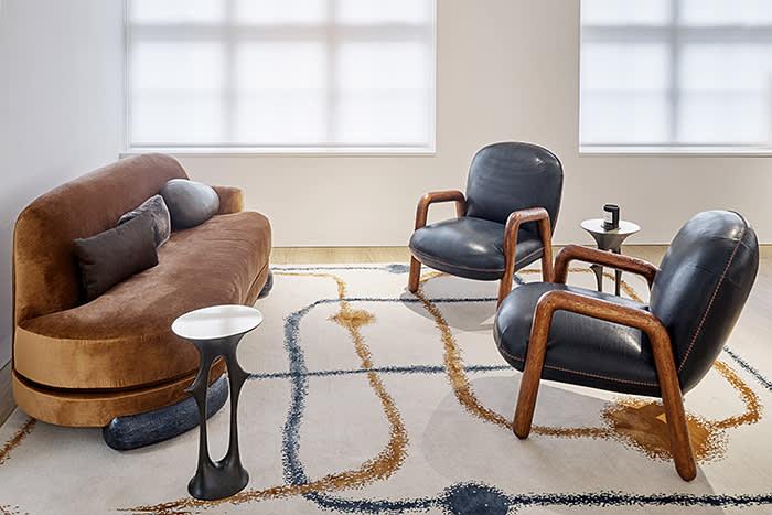 Mattia Bonetti furniture in Alex's office, Photo by Tom Griffiths
