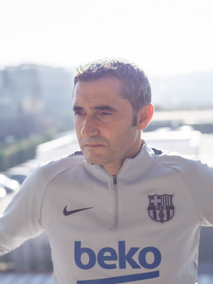 Ernesto Valverde, who took over as Barcelona's head coach in May 2017