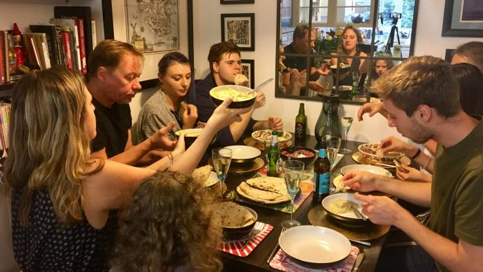 Come dine with me: Claer Barrett's family and friends sample the supper club