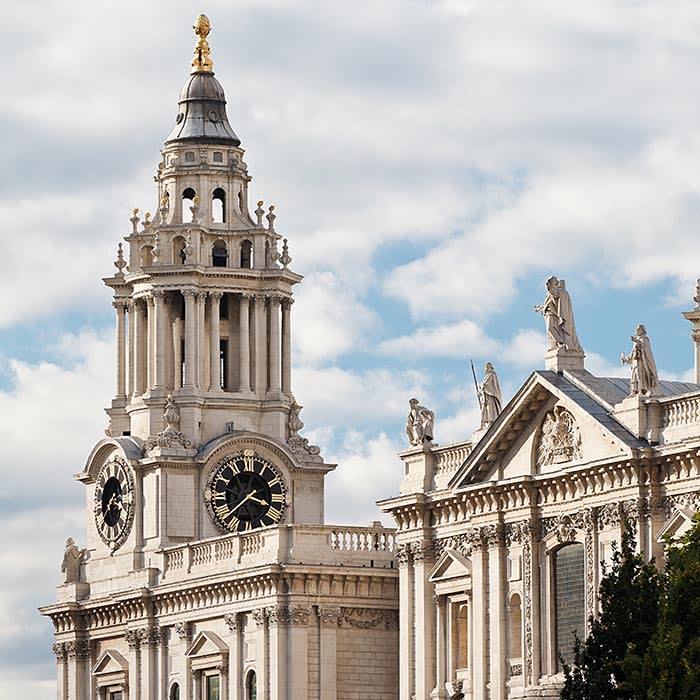 St Paul's clock in London, England, UK
