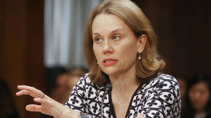 WASHINGTON, DC - FEBRUARY 09: Julianne Smith, senior fellow and director of the Center for New American Strategy's Strategy and Statecraft Program speaks at a Senate Foreign Relations Committee hearing on the U.S. - Russian relationship on February 9, 2017 in Washington, D.C. Russian hacking and the conflict in Syria were both discussed at the hearing. (Photo by Mario Tama/Getty Images)