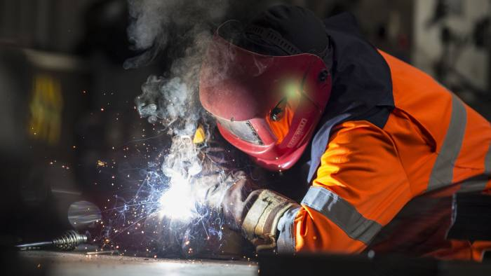 """Undated handout photo issued by British Steel of a British Steel worker in Scunthorpe, as the company reported a profit of £47 million just a year after its launch and is to give workers a 5% stake in the business after a """"remarkable"""" transformation. PRESS ASSOCIATION Photo. Issue date: Thursday June 1, 2017. The company, owned by investment firm Greybull Capital, completed the purchase of Tata Steel's Long Products Europe business exactly a year ago, with losses of £79 million in the previous financial year. See PA story INDUSTRY Steel. Photo credit should read: Steve Morgan/British Steel/PA Wire NOTE TO EDITORS: This handout photo may only be used in for editorial reporting purposes for the contemporaneous illustration of events, things or the people in the image or facts mentioned in the caption. Reuse of the picture may require further permission from the copyright holder."""